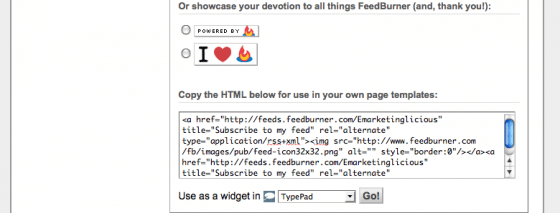 Copy the HTML below for use in your own page templates: