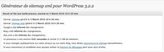 Générateur de sitemap xml pour wordpress