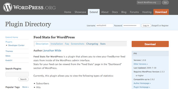Feed Stats For Wordpress - Feed Stats Pour Wordpress