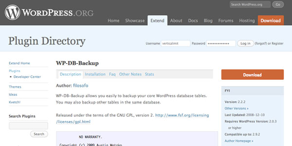 sauvegarde-wordpress-wp-db-backup-plugin
