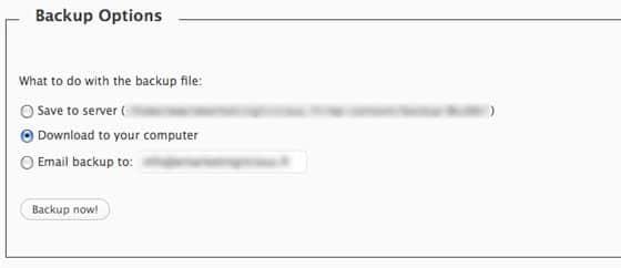 wordpress-wp-db-backup-options