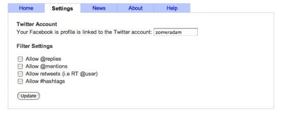 Smart-Twitter-for- Pages-settings