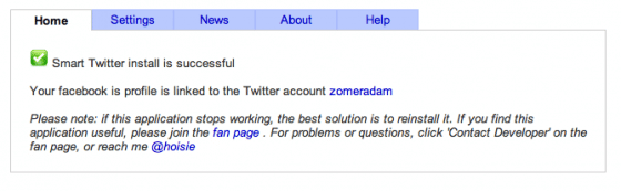Smart Twitter for Pages»: Synchroniser une Page Facebook