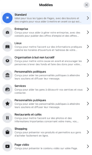 page-facebook-modeles