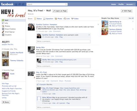 Prototype des nouvelles pages facebook