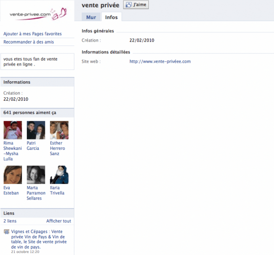 page-facebook-entreprise-vente-privee