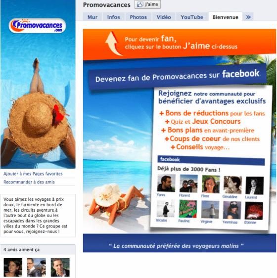 page-facebook-entreprise-vente-promovacances