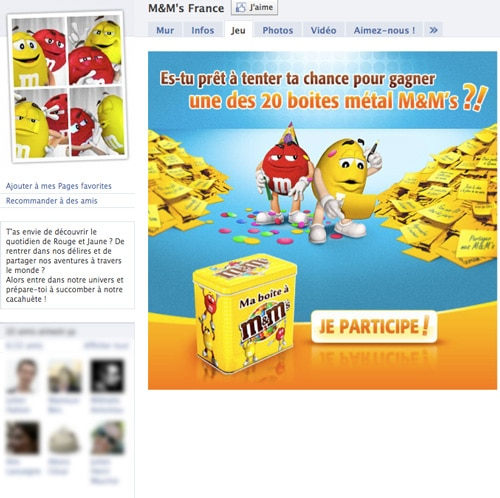 M&M-france-facebook-page