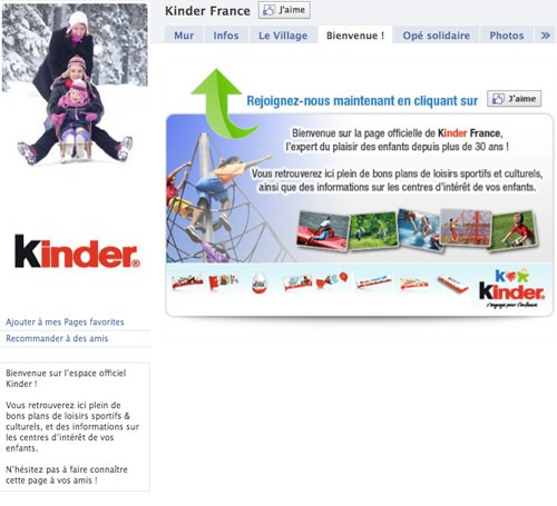 kinder-france-facebook-page