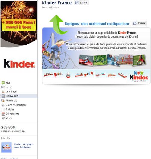 kinder-france-page-facebook