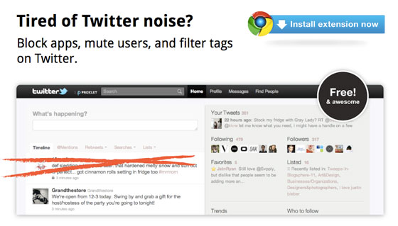 proxlet-application-twitter-eliminer-le-bruit