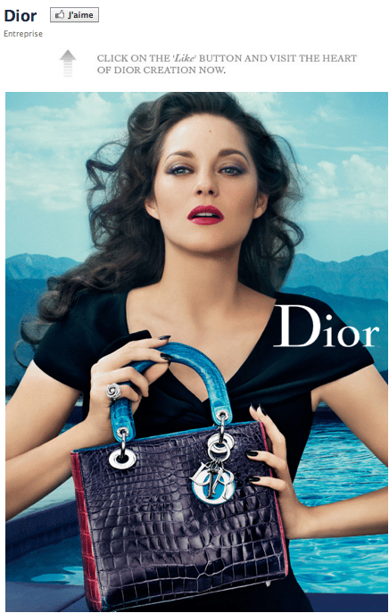 dior-page-facebook-call-to-action