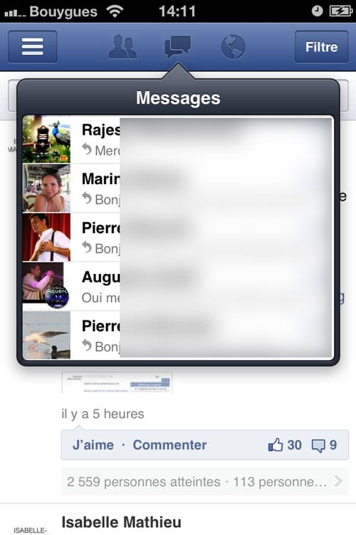facebook-application-messages