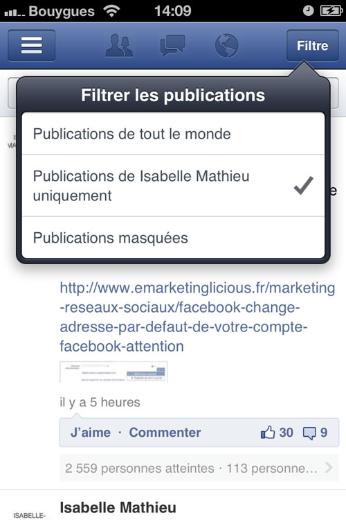 facebook-application-pages-filtrer-publications