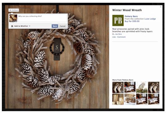 Facebook Teste Les Collections et les options «Want», «Collect» et «Buy»