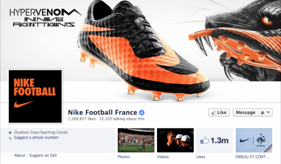 page-facebook-Nike-Football-France