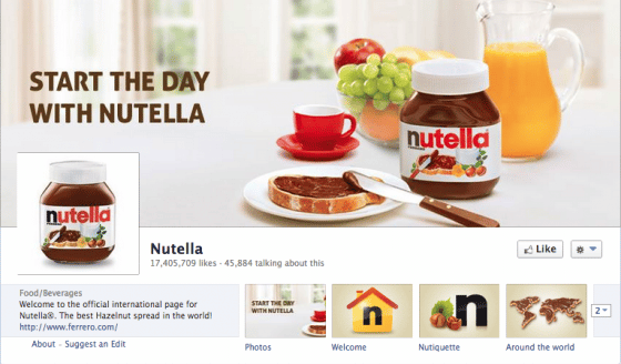 page-facebook-Nutella