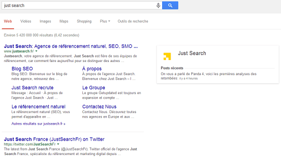 visibilite acrrue serps google plus
