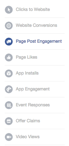 objectifs annonces facebook