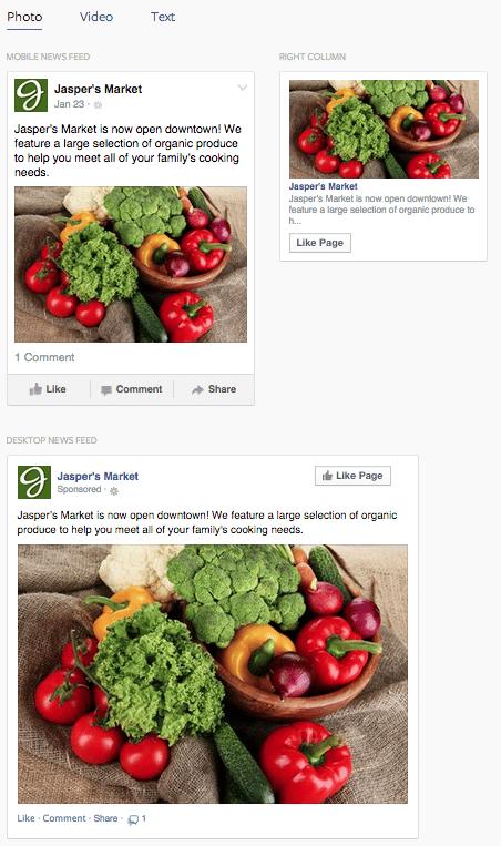 visualisation annonces facebook