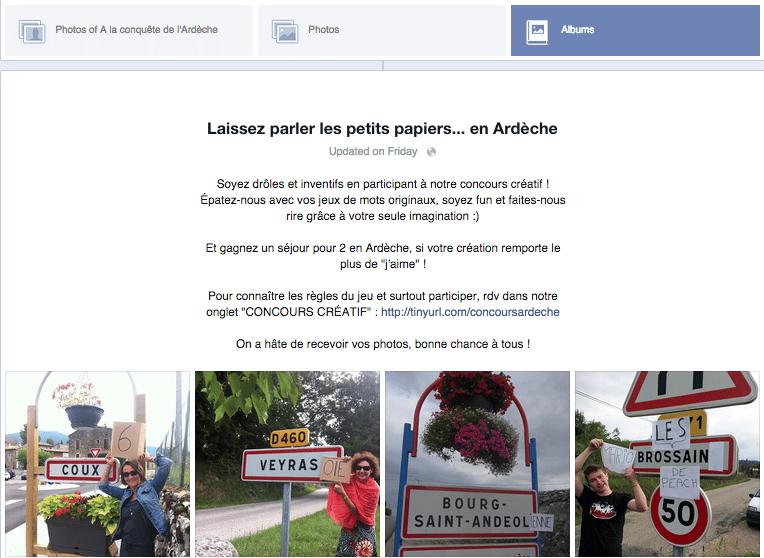 page facebook ardeche