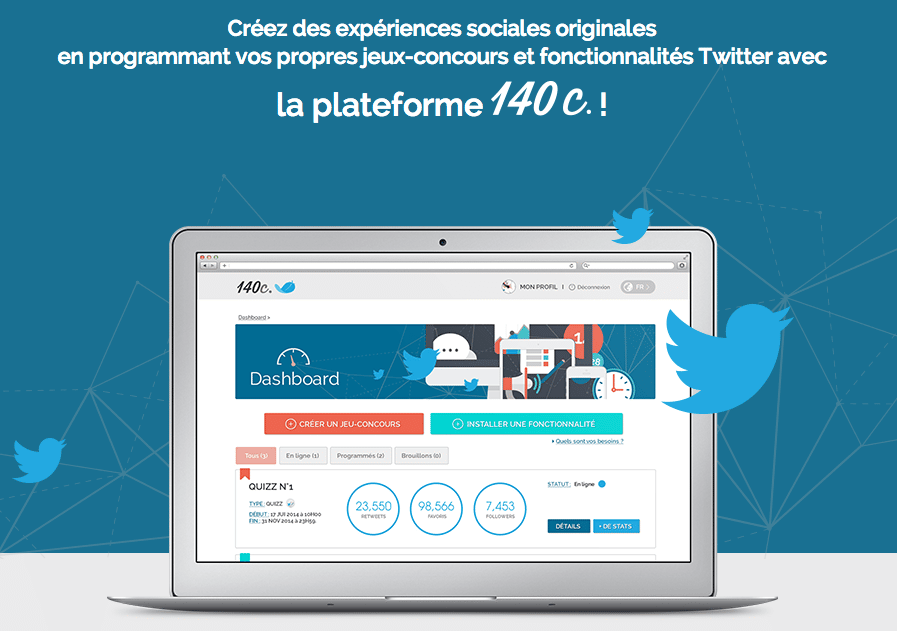 140c recruter abonnes engager twitter