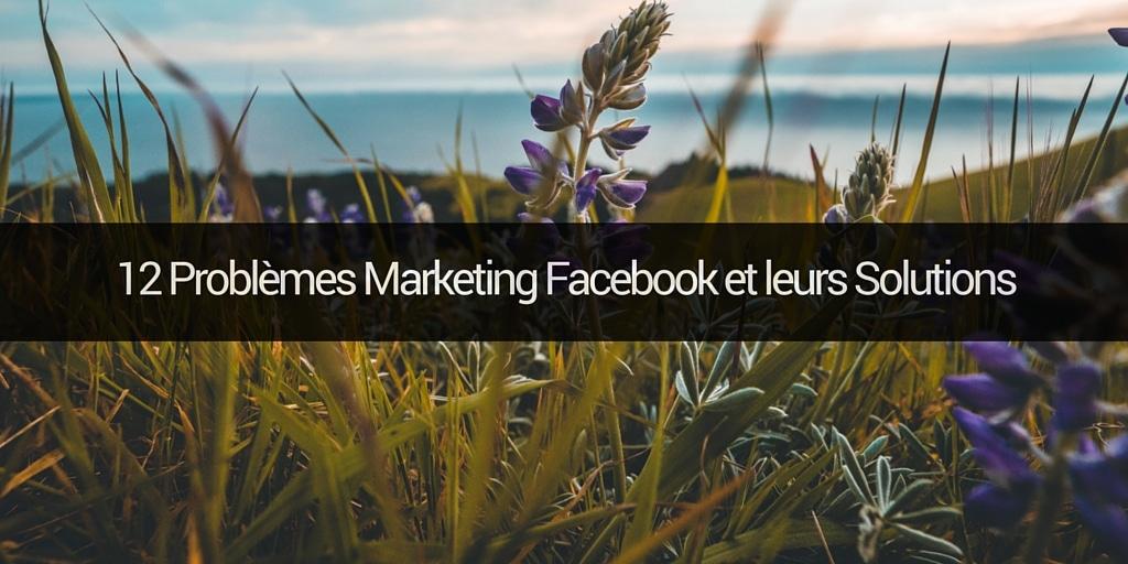 12 Problemes Marketing Pour Une Page Facebook Et Leurs Solutions