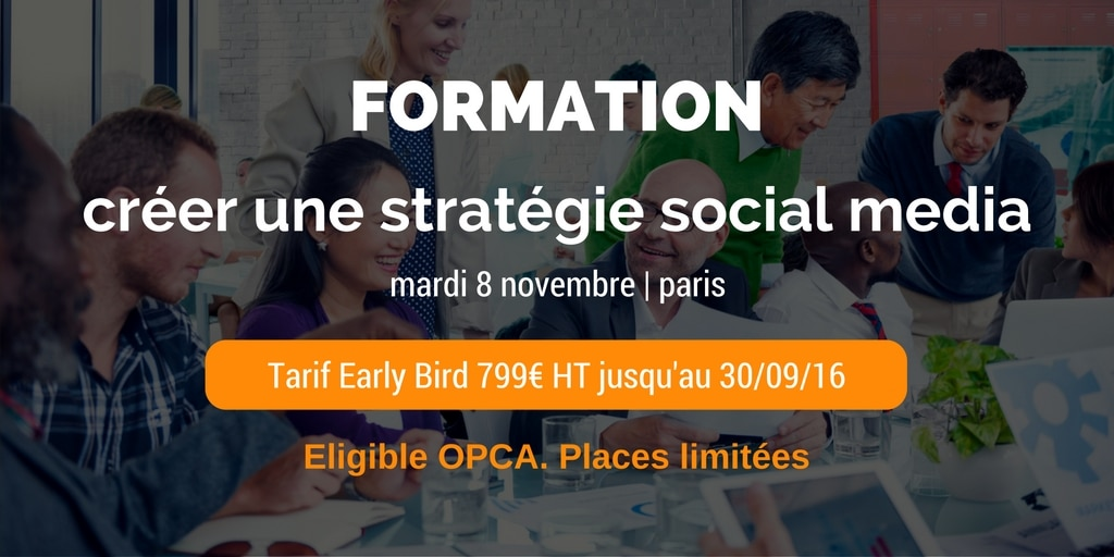 formation creer strategie social media