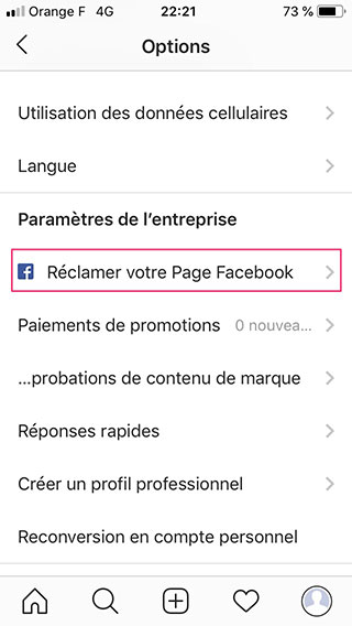 creer-profil-professionnel-instagram-reclamer-page-facebook