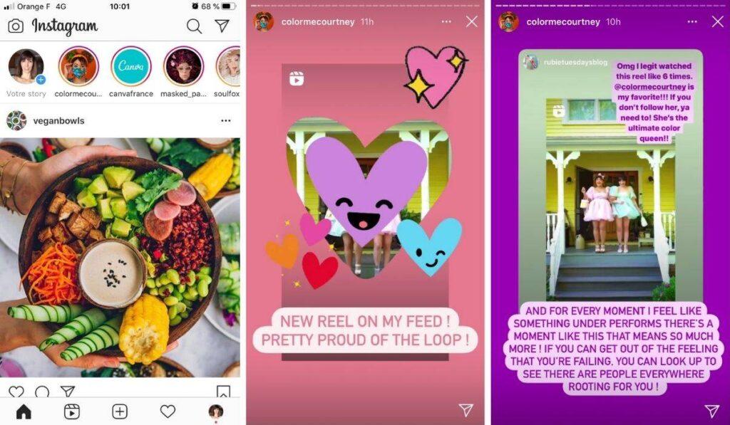 stories instagram presentation