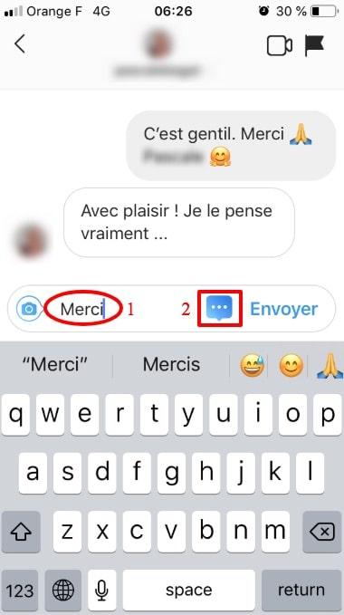 ajouter reponses rapides instagram direct