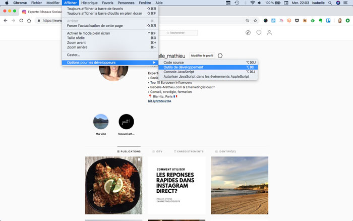 comment-publier-instagram-pc-chrome-bureau