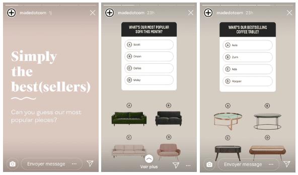 instagram sticker quiz story