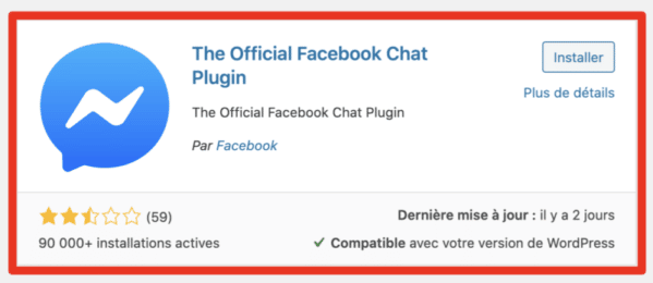 Official Facebook Chat Plugin wordpress