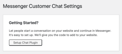 setup chat plugin messenger facebook